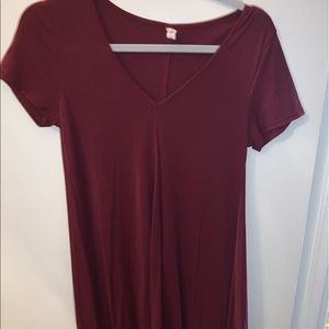 Crimson v-neck dress!